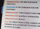 a Twitch TV chat room during the Canibus and Dizaster rap battle