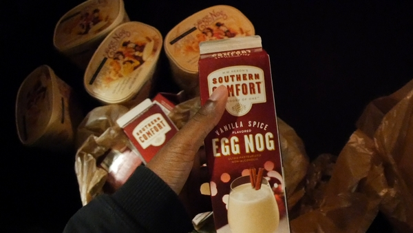 my January stash of egg nog