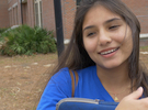 video : a girl talking about her belief in a God