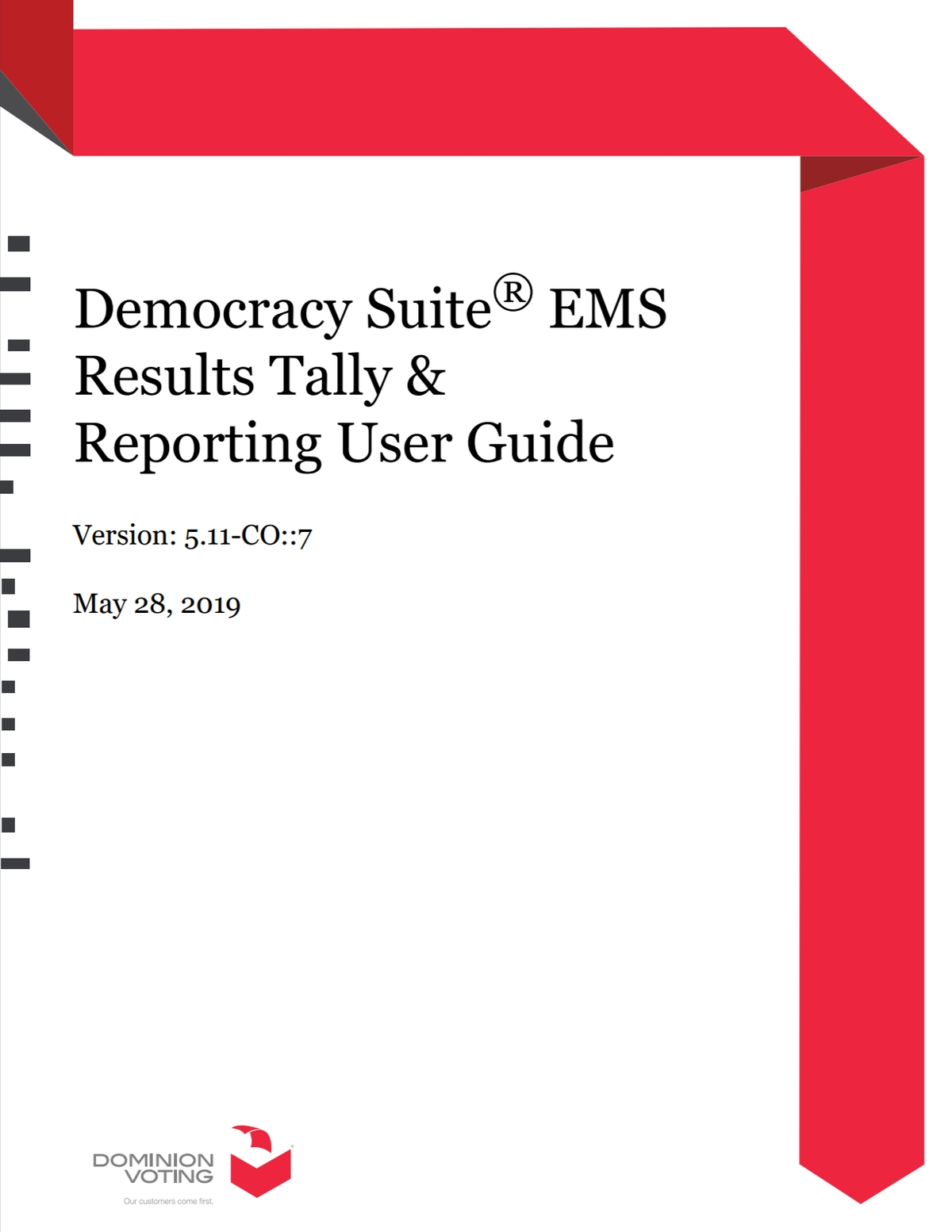 Democracy Suite EMS Results Tally And Reporting User Guide