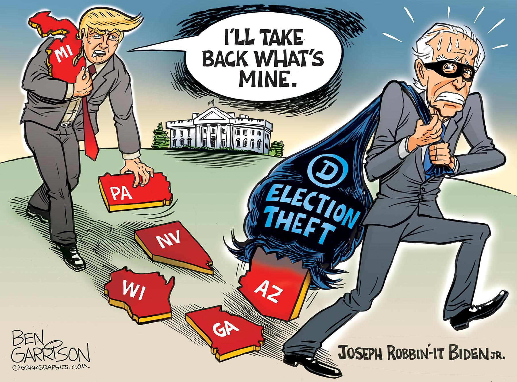 a Ben Garrison illustration : Election Theft