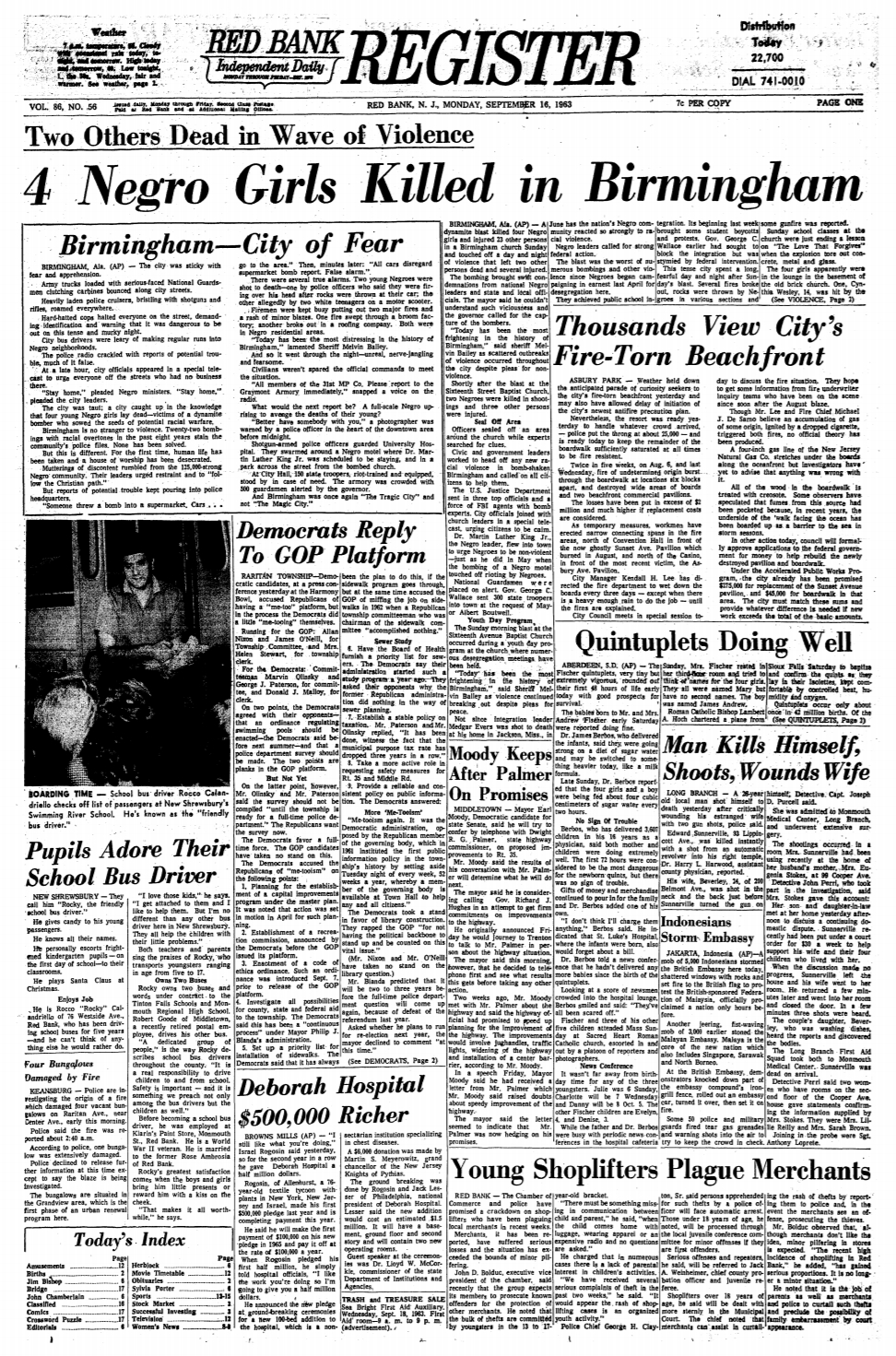 an issue of Red Bank Register [ 1963 September 16 ]