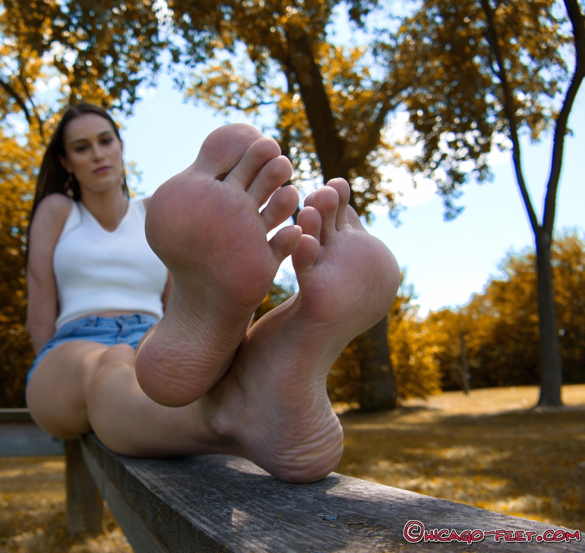 a girl named Ruby showing her feet