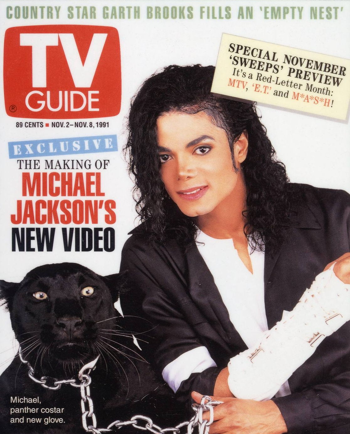 Michael Jackson on the cover of TV Guide