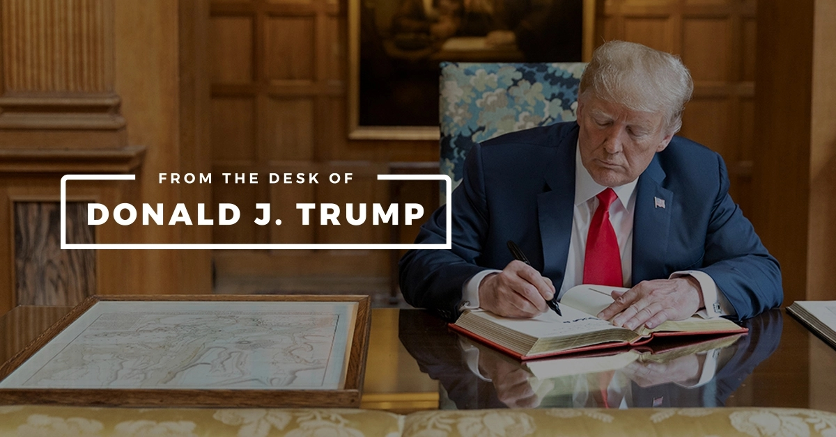promo : From The Desk Of Donald J Trump