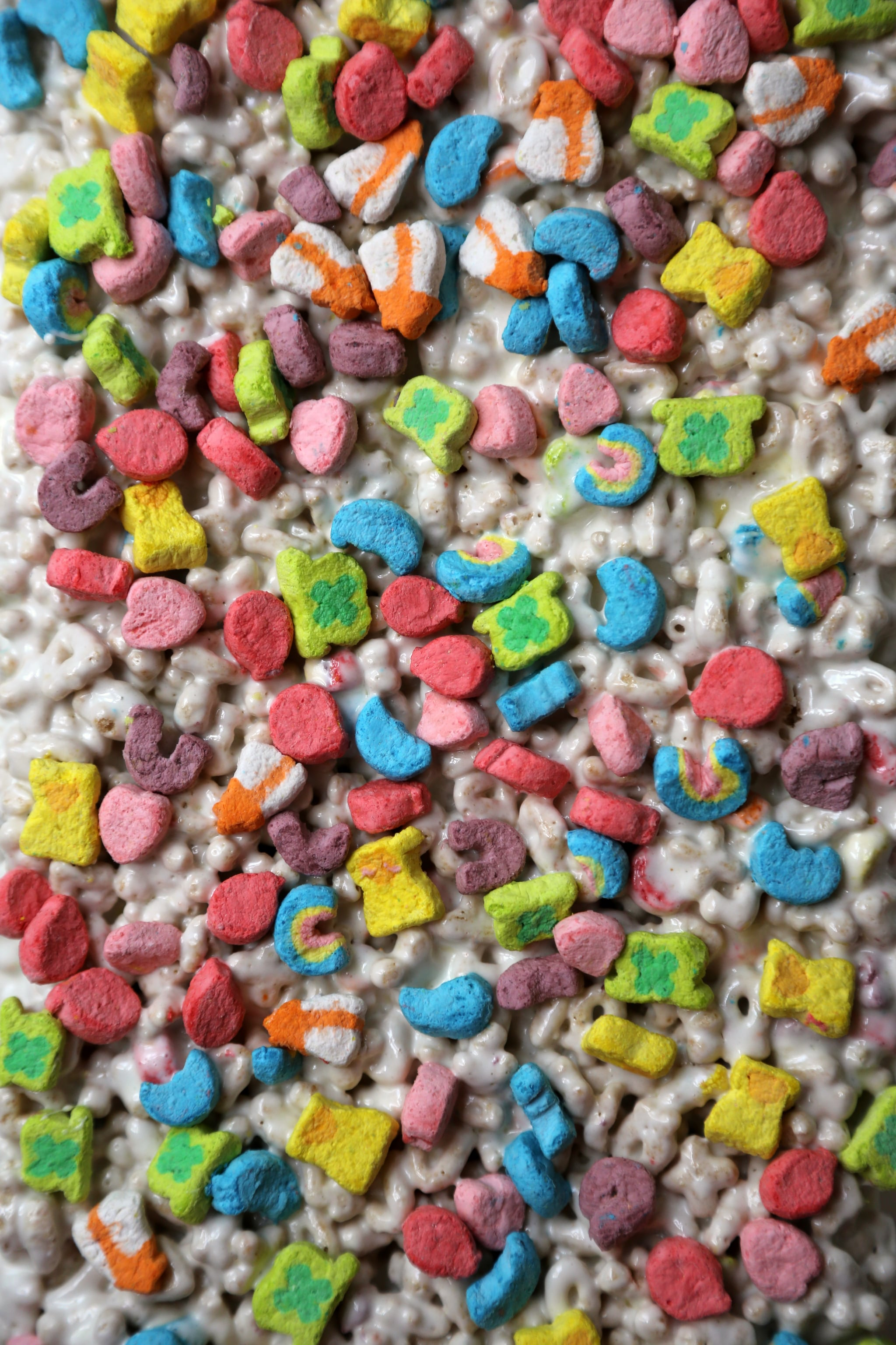 Lucky Charms with melted marshmallows