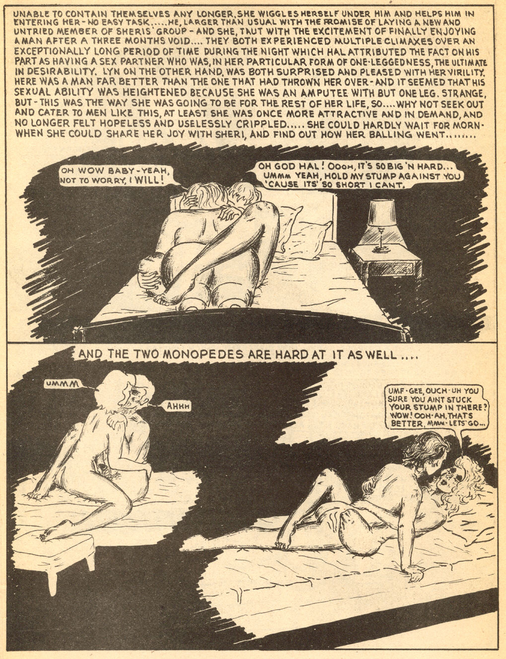 a Last Gasp comic book : Amputee Love [ 1 ]