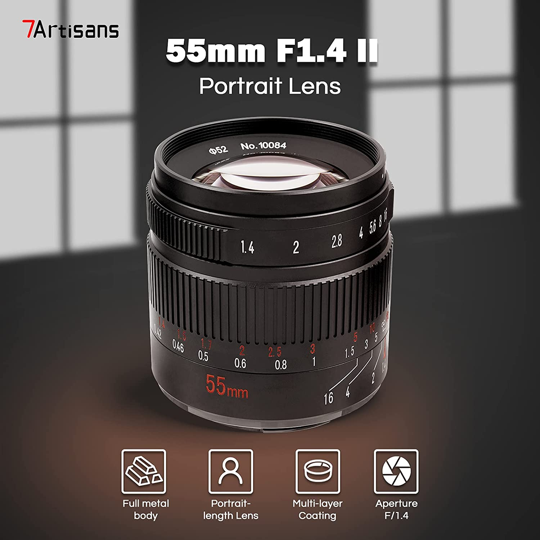 promo : the 7Artisans 55-millimeter F1.4 Mark 2 portrait lens