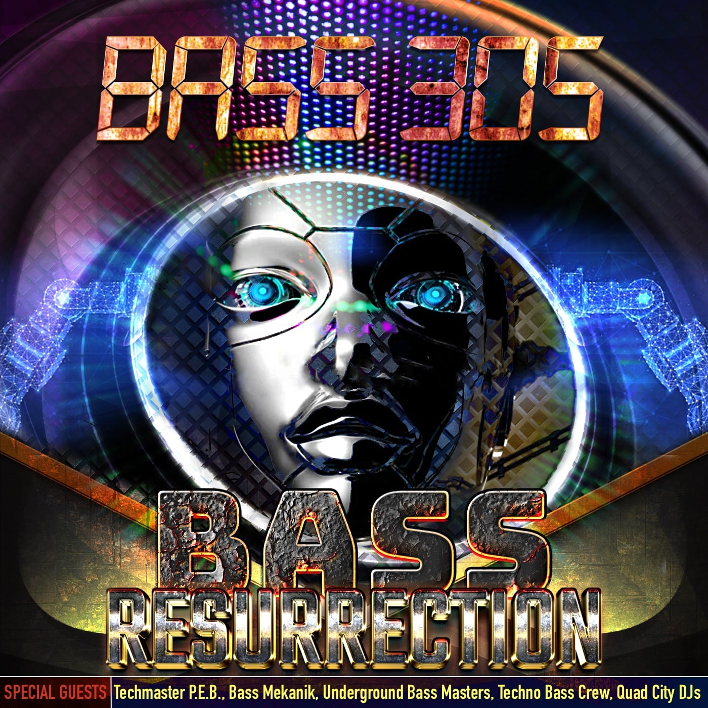 the tracklist of Bass 305's Bass Resurrection album