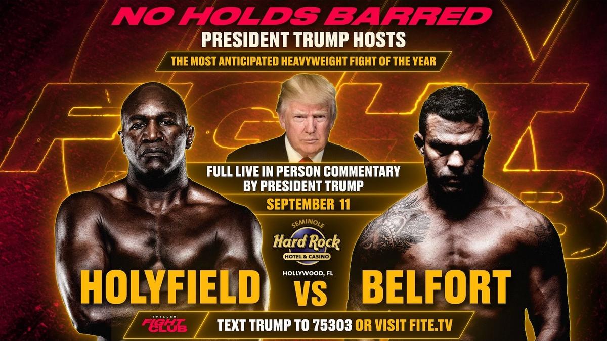 promo : Evander Holyfield versus Vitor Belfort at Triller Fight Club