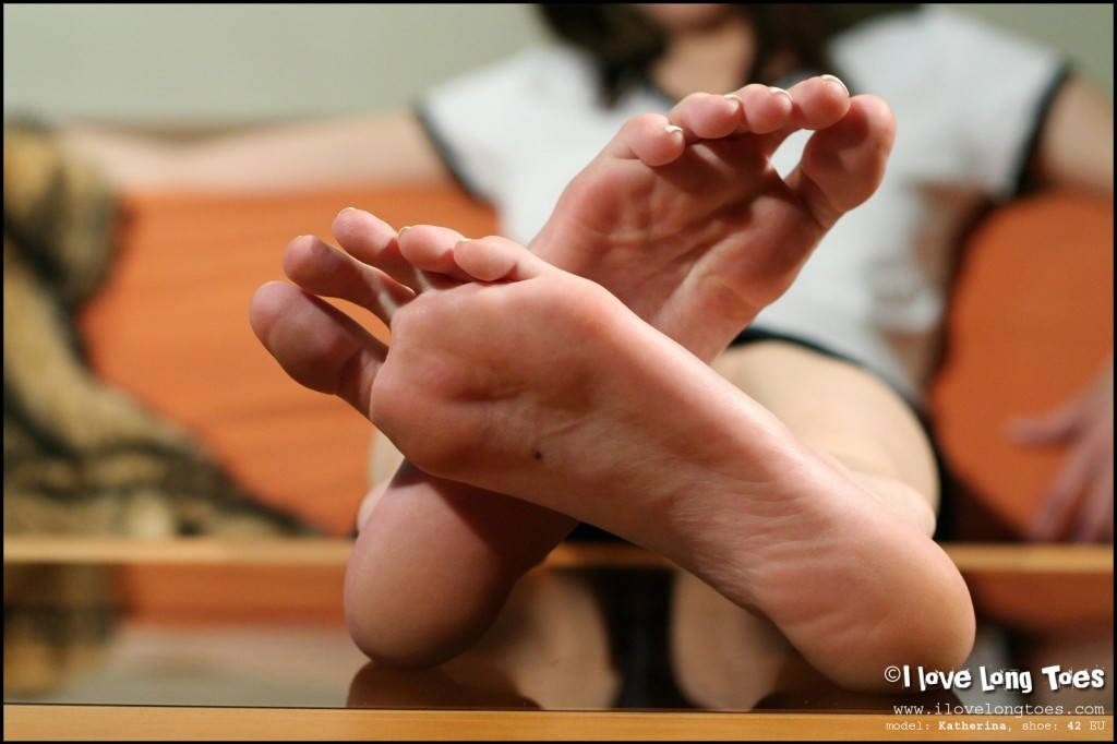 a woman named Katrina showing her feet