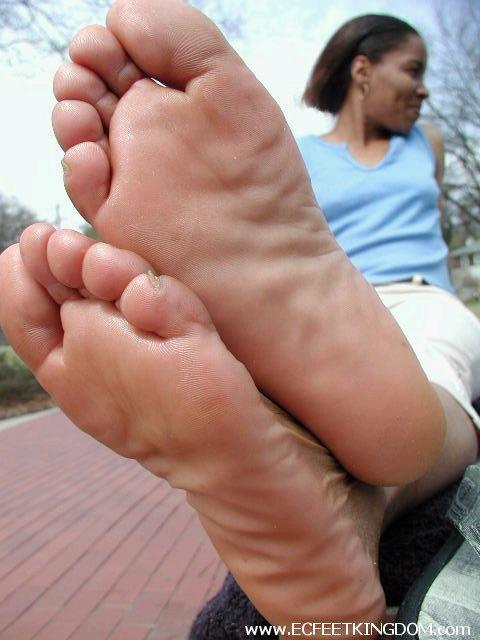 a girl showing her feet