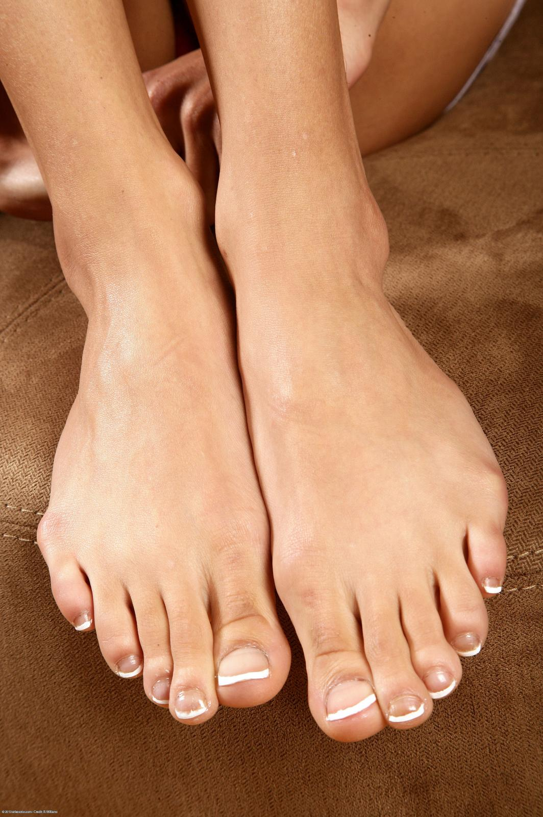 a girl named Aileena showing her feet