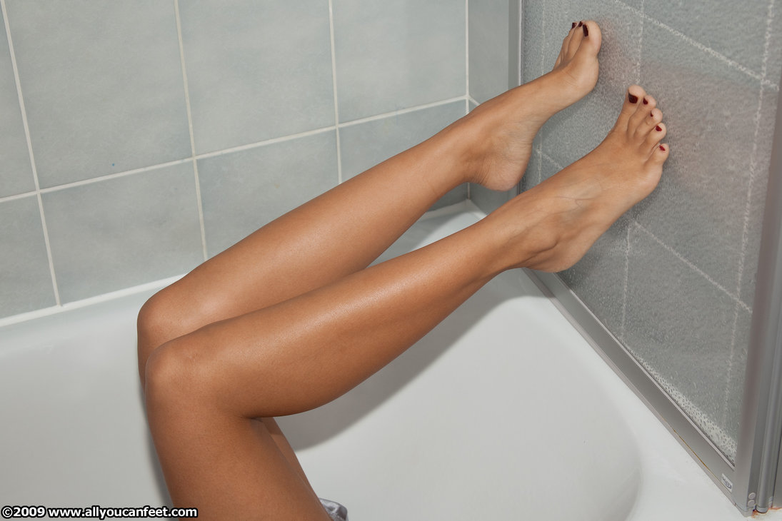a girl named Brini showing her legs and feet