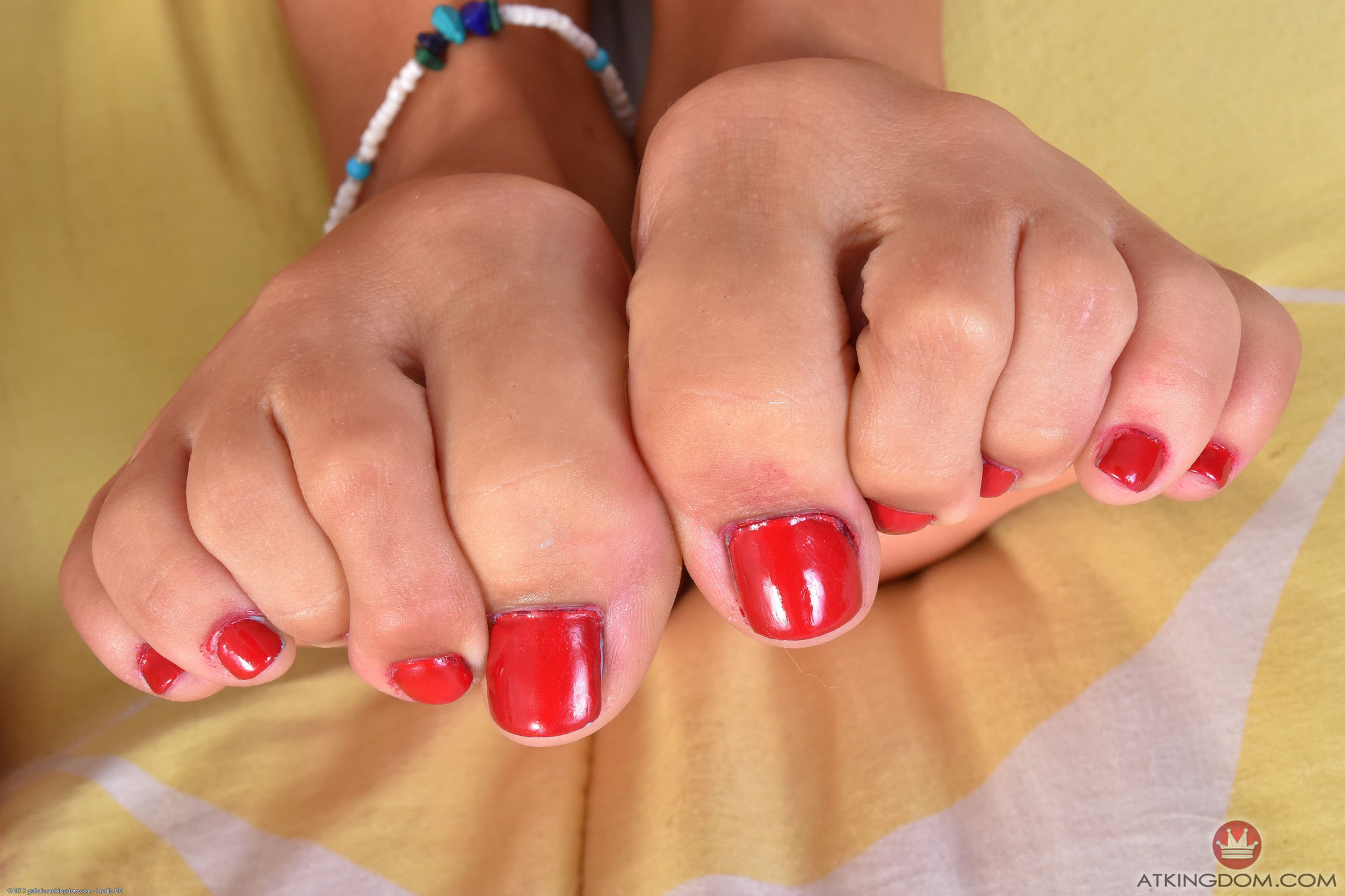 Athena Summers showing her toes