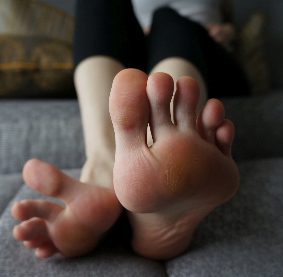 a girl named Candy showing her toes