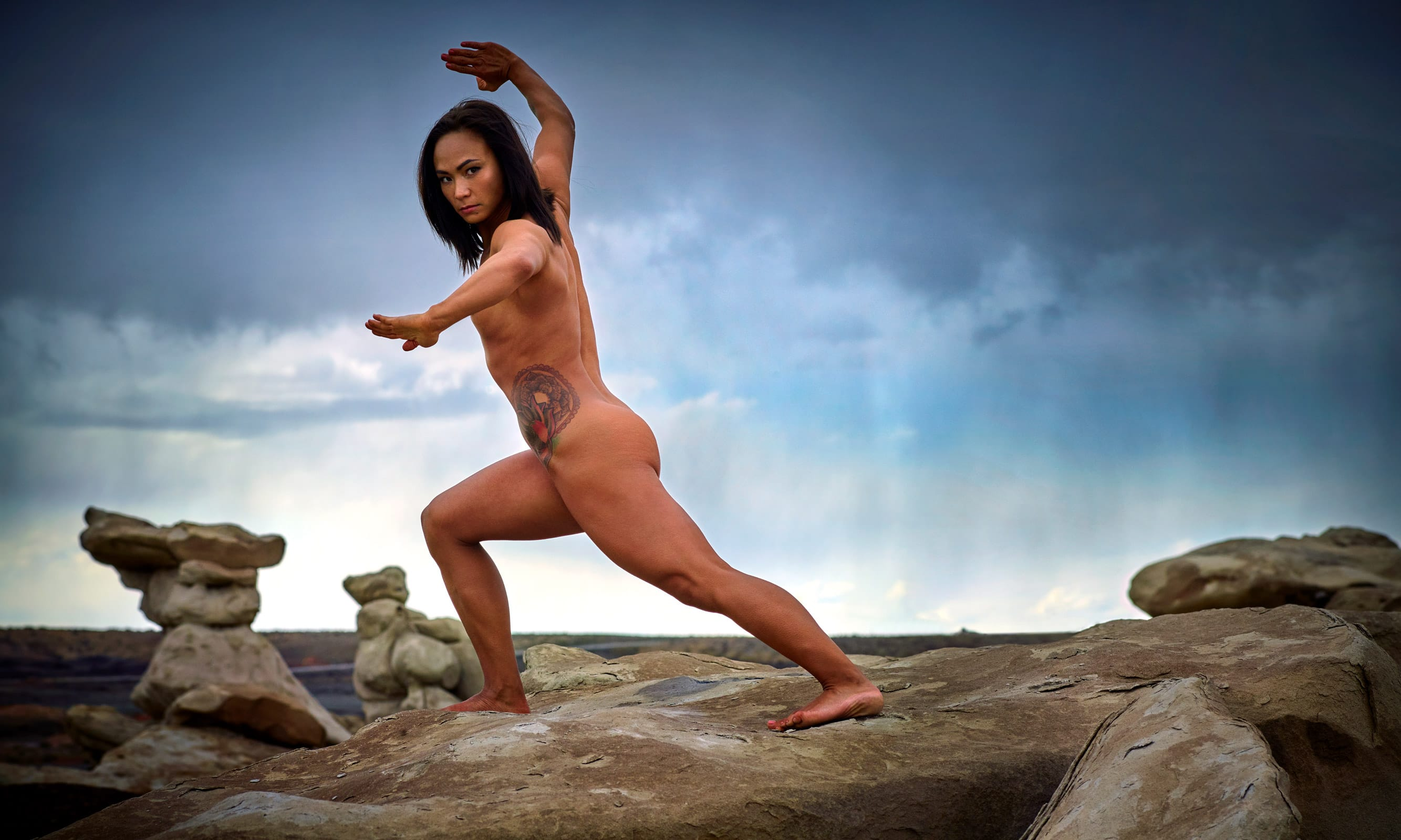 Michelle Waterson posing nude for ESPN