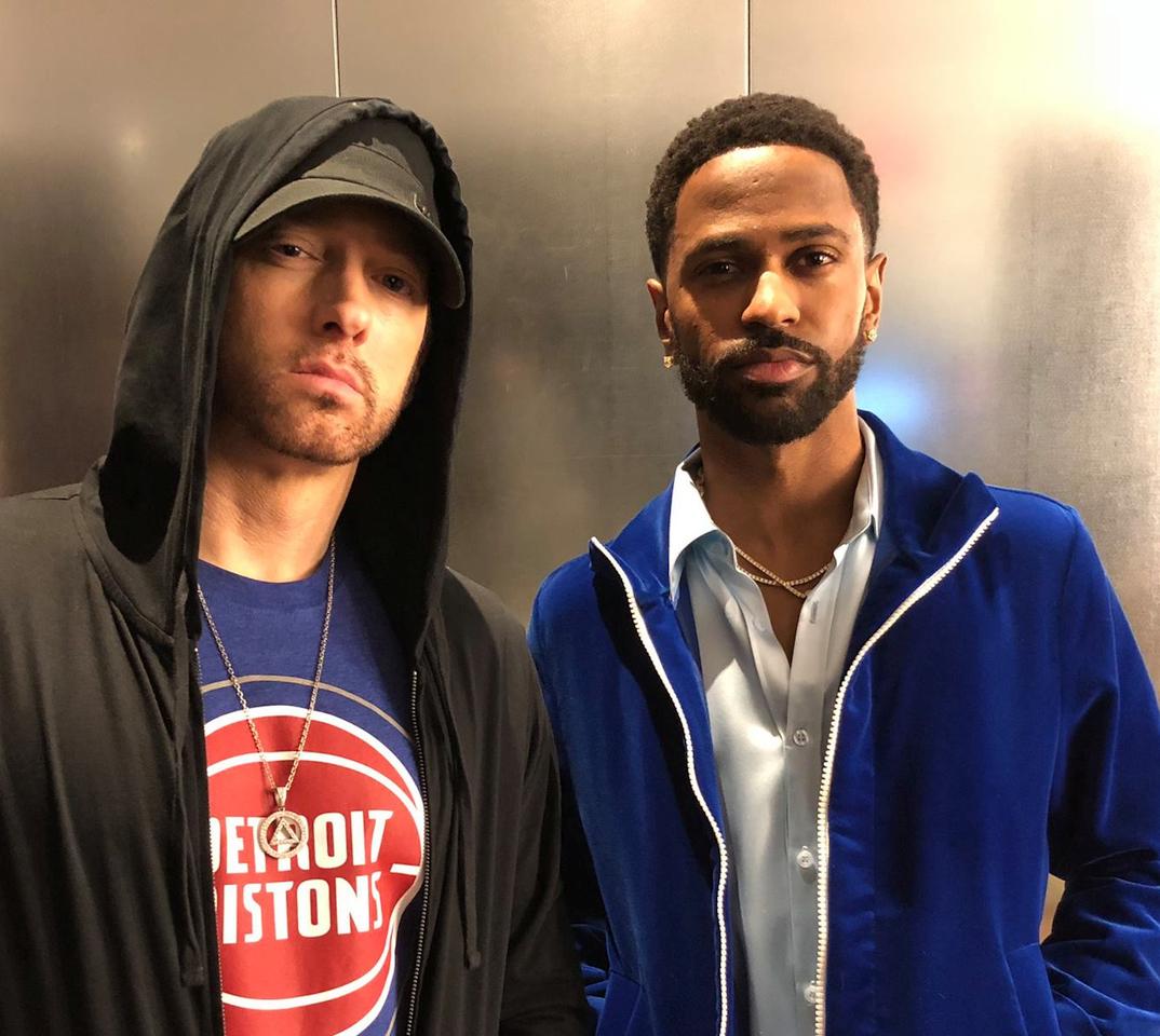 Eminem and Big Sean posing