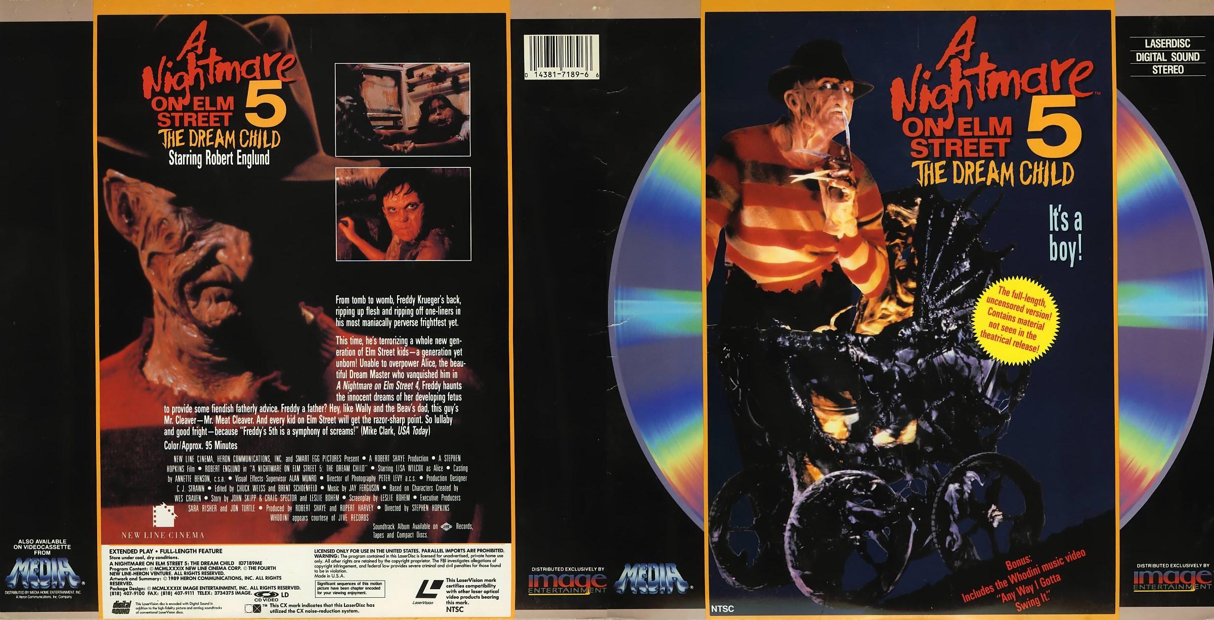 A Nightmare On Elm Street 5 on laserdisc