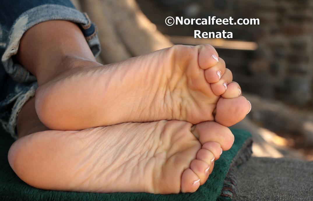 a California girl named Renata showing her feet