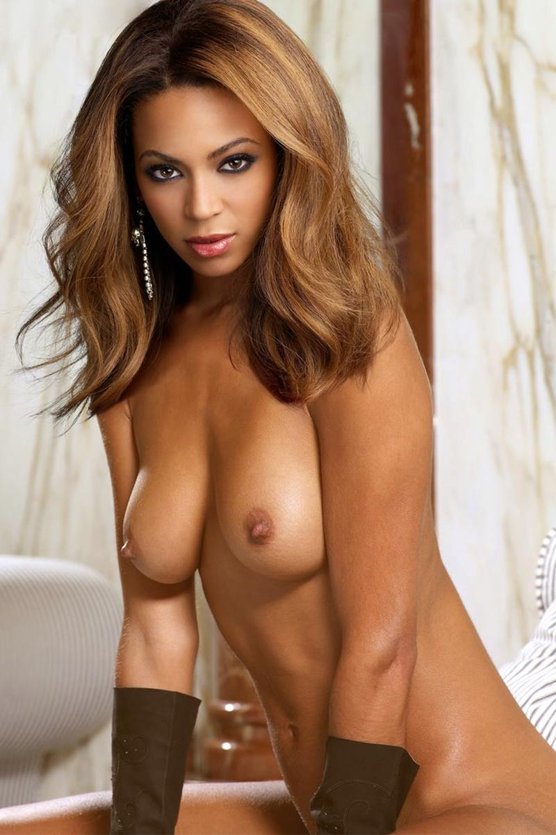 a fake photo of Beyoncé showing her tits