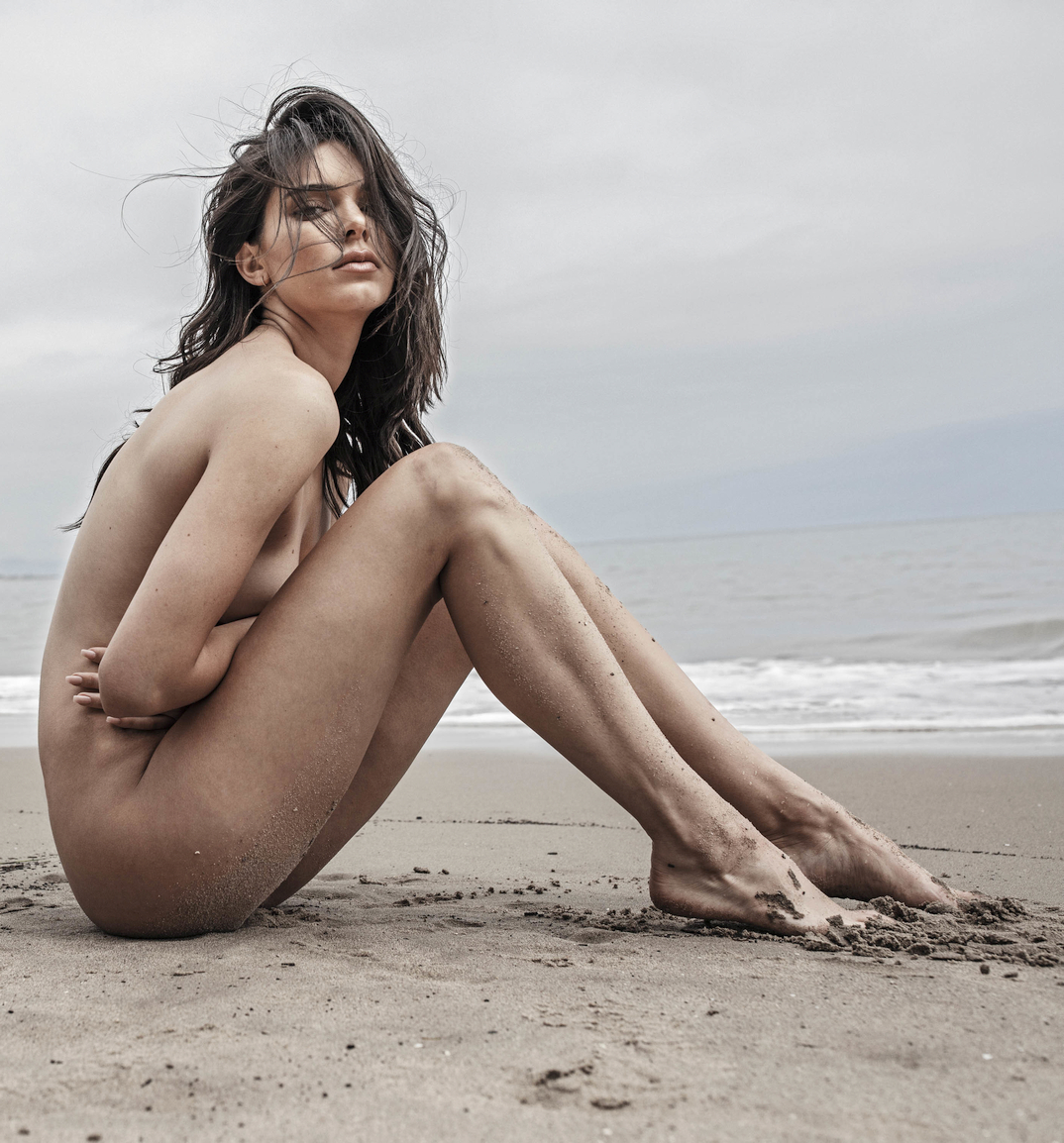 Kendall Jenner posing nude