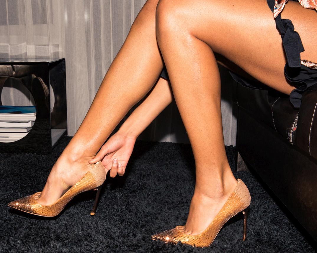 Herizen Guardiola's legs