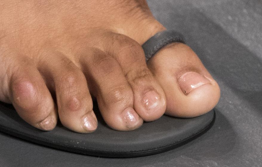 Danielle Herrington's foot