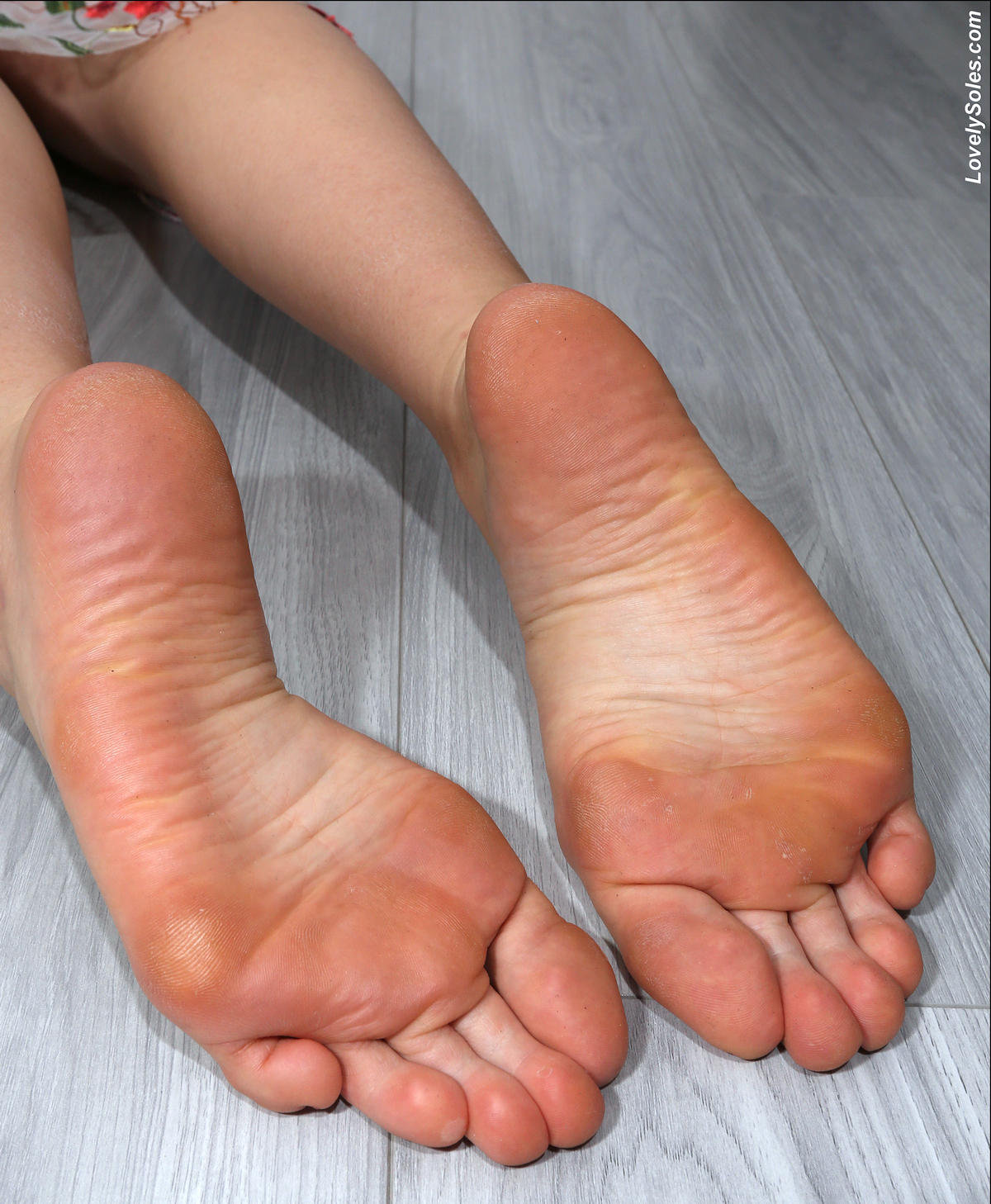 a girl named Hailee showing her feet
