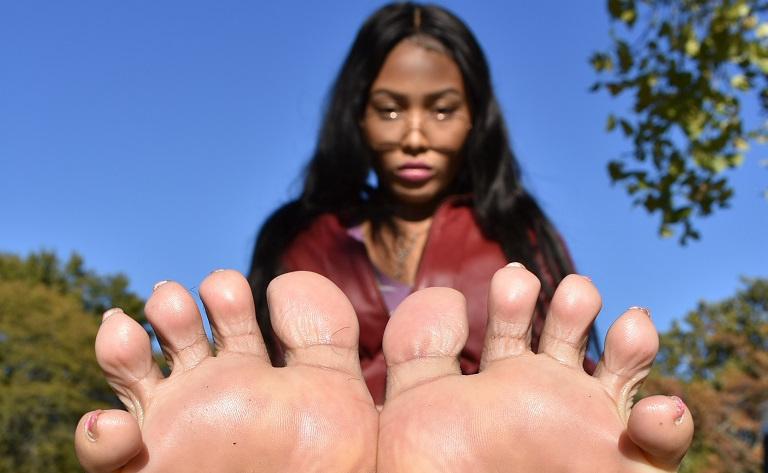 a girl named Nikki showing her feet