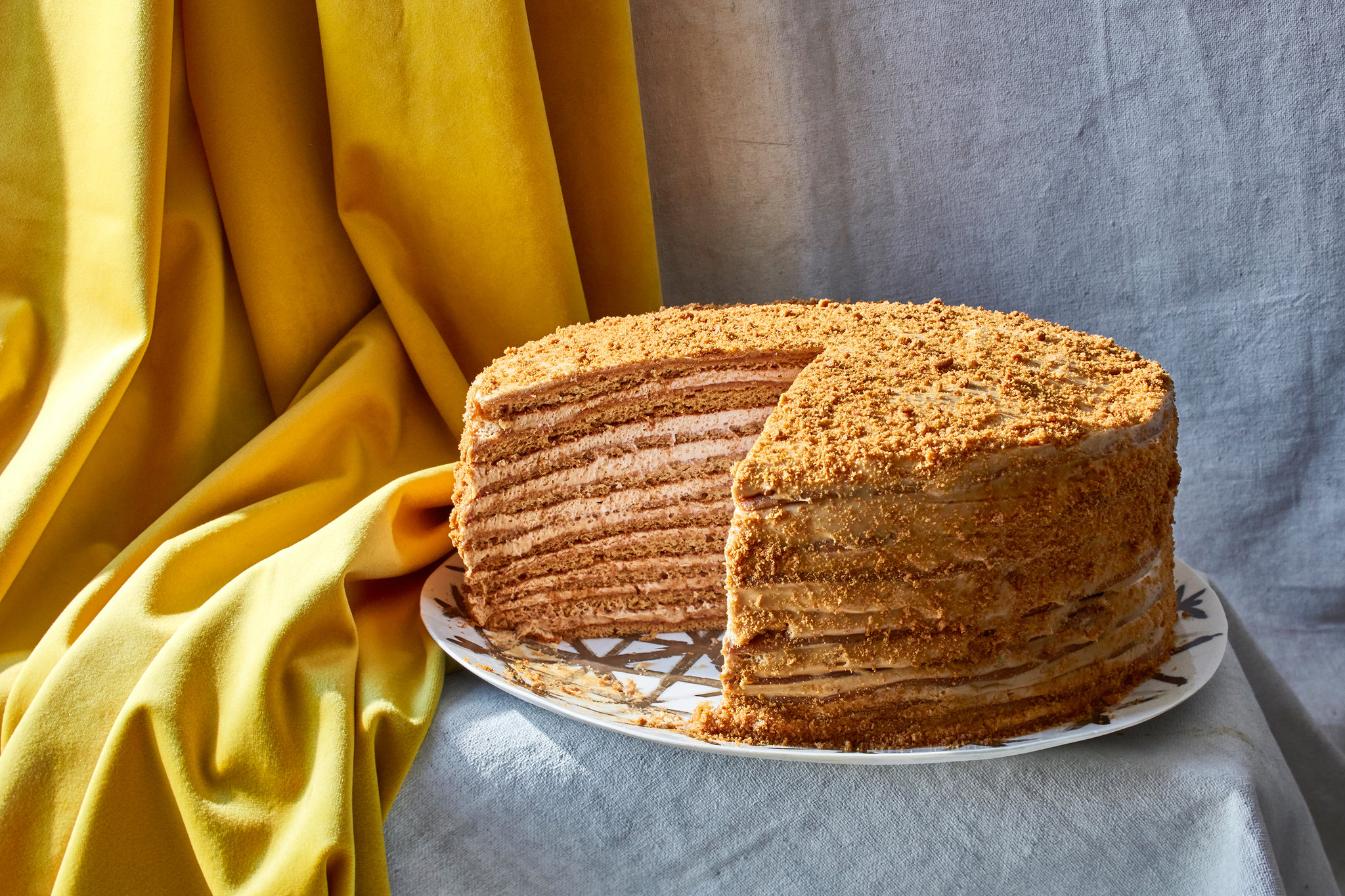 a Russian honey cake