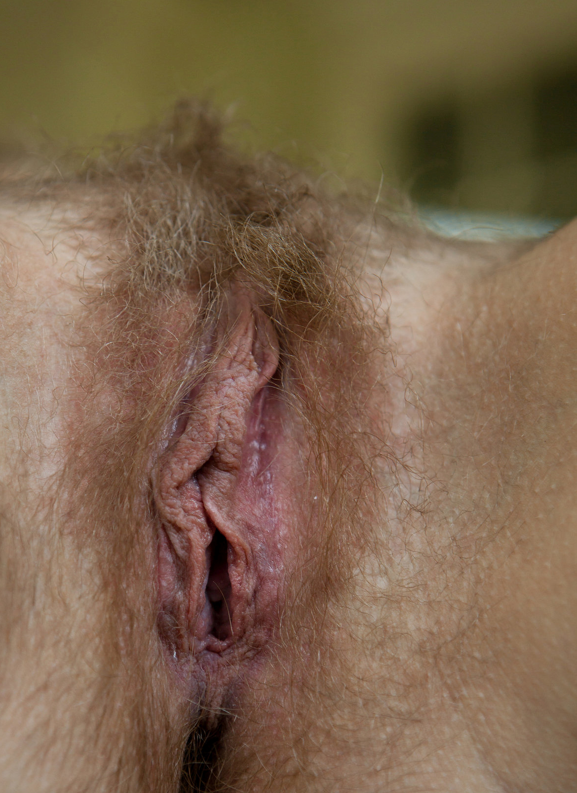 a Czech girl named Lea showing her hairy pussy