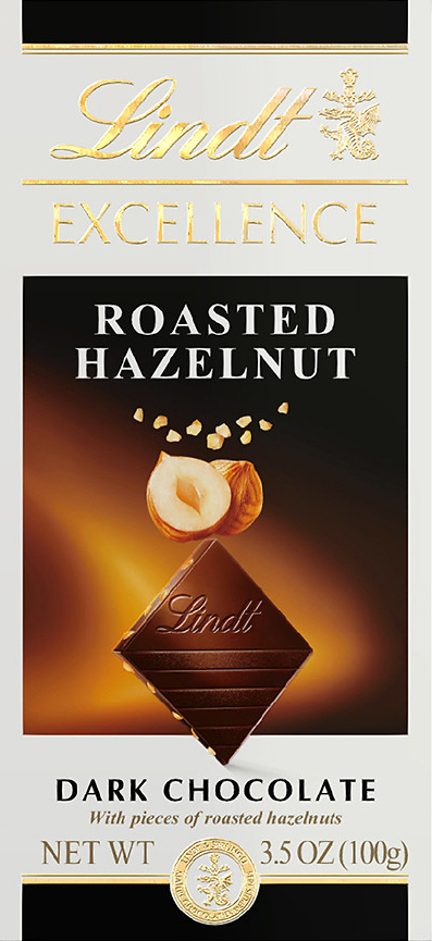 Lindt Excellence chocolate : Roasted Hazelnut