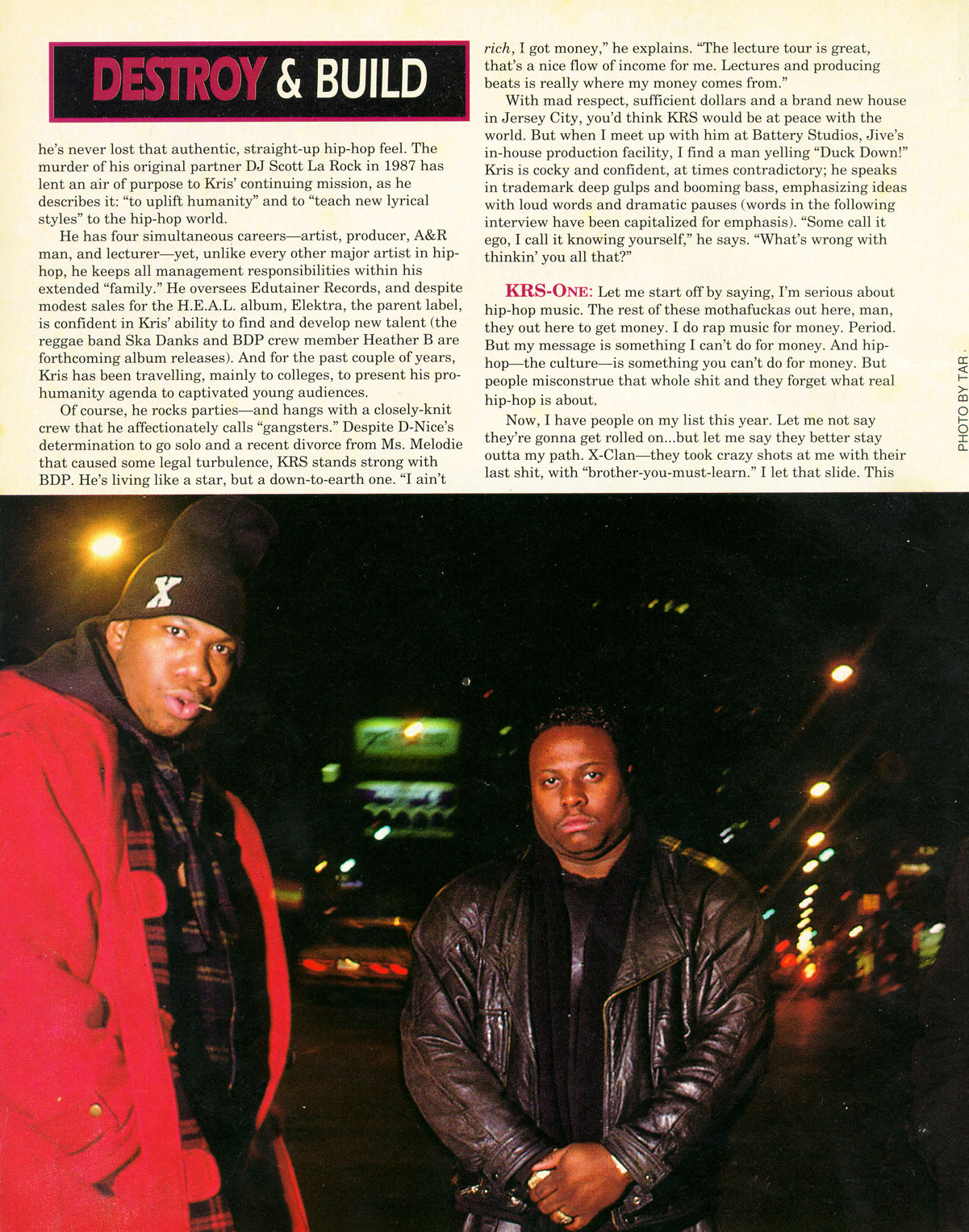 a Source interview with KRS-One : Destroy And Build