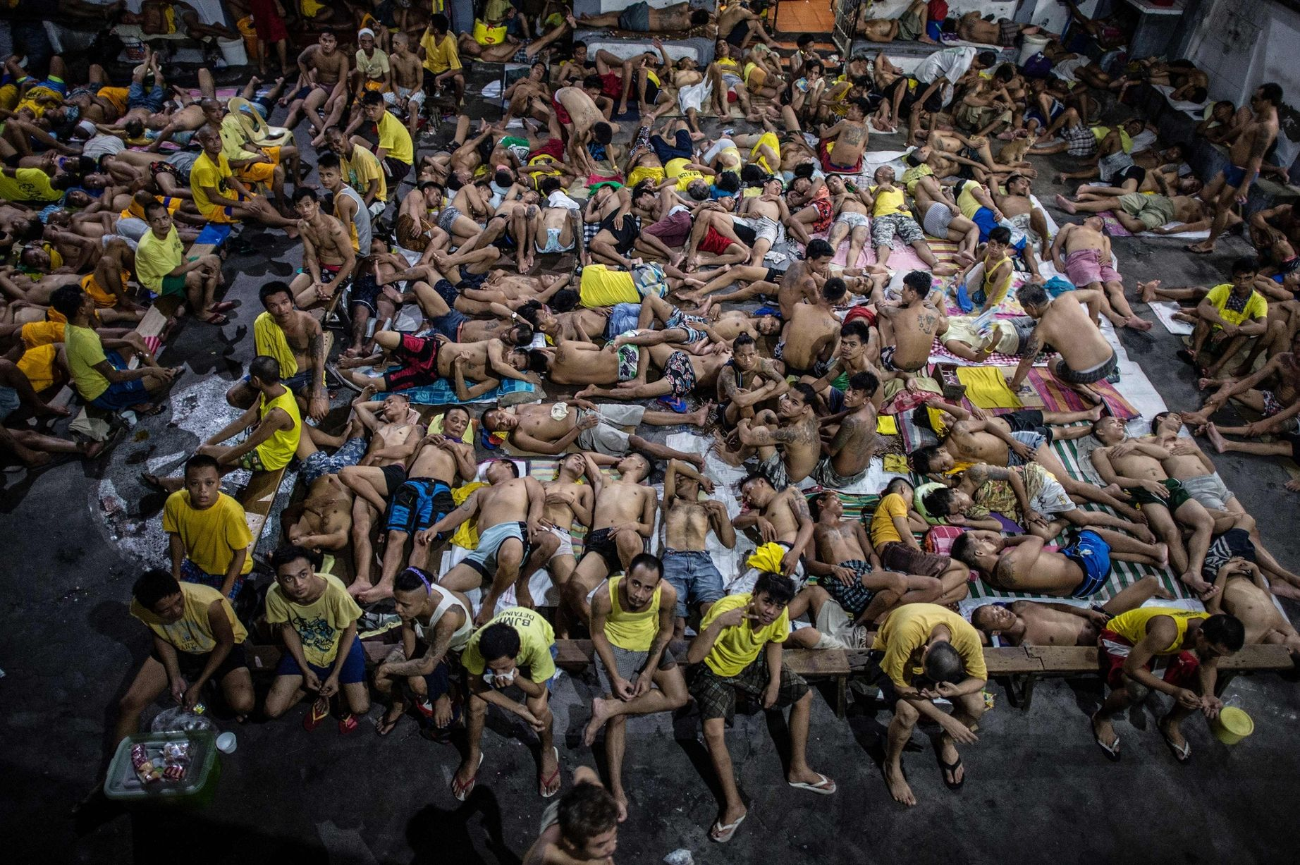 inmates at Quezon City Jail in The Philippines
