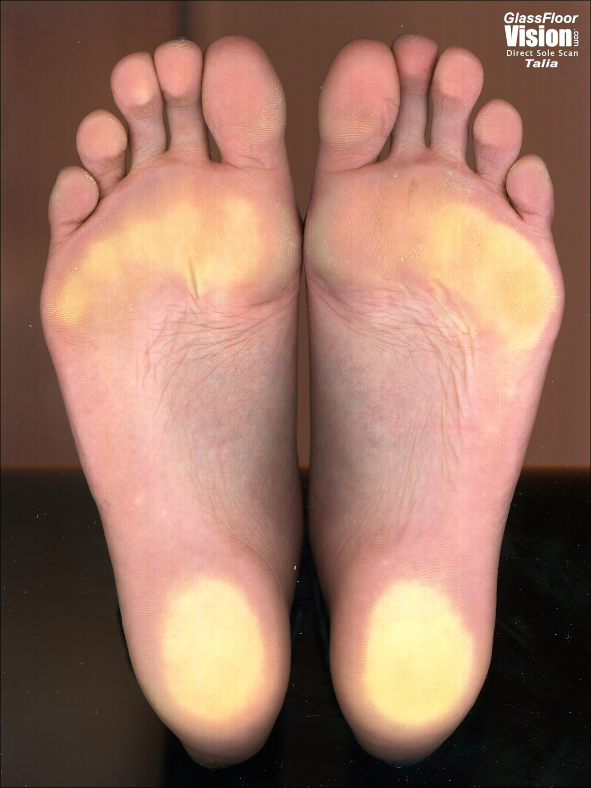 a girl named Talia showing her feet