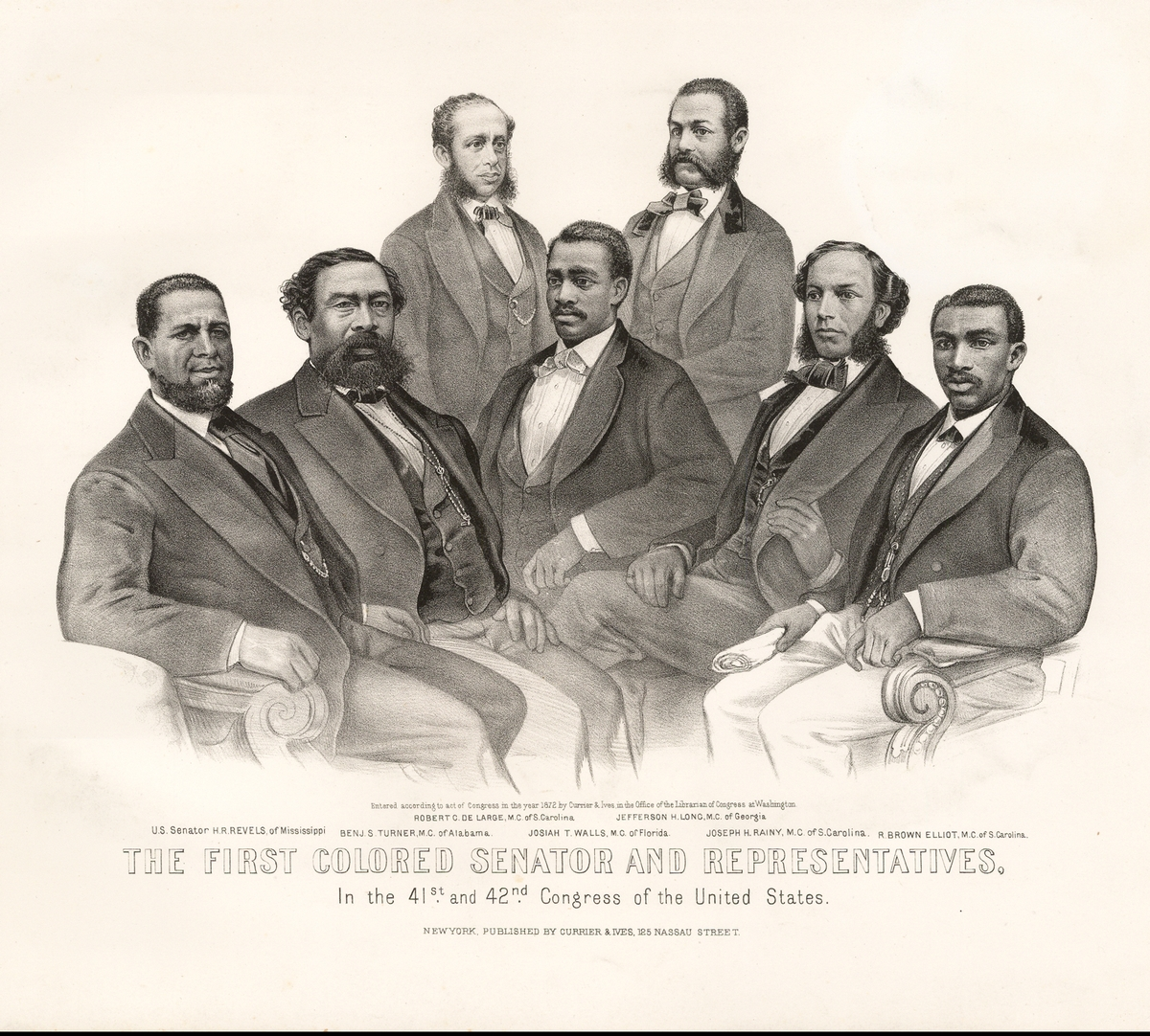 illustration : The First Colored Senator And Representatives