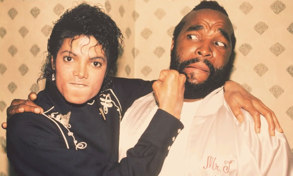 Michael Jackson and Mr T