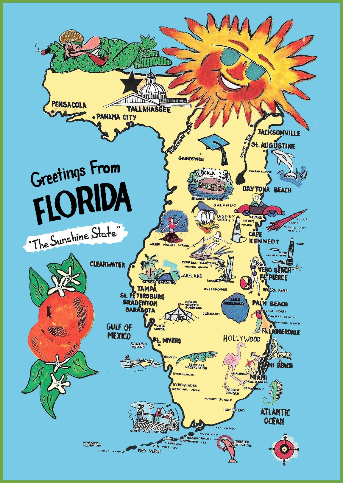 an outsiders map of Florida
