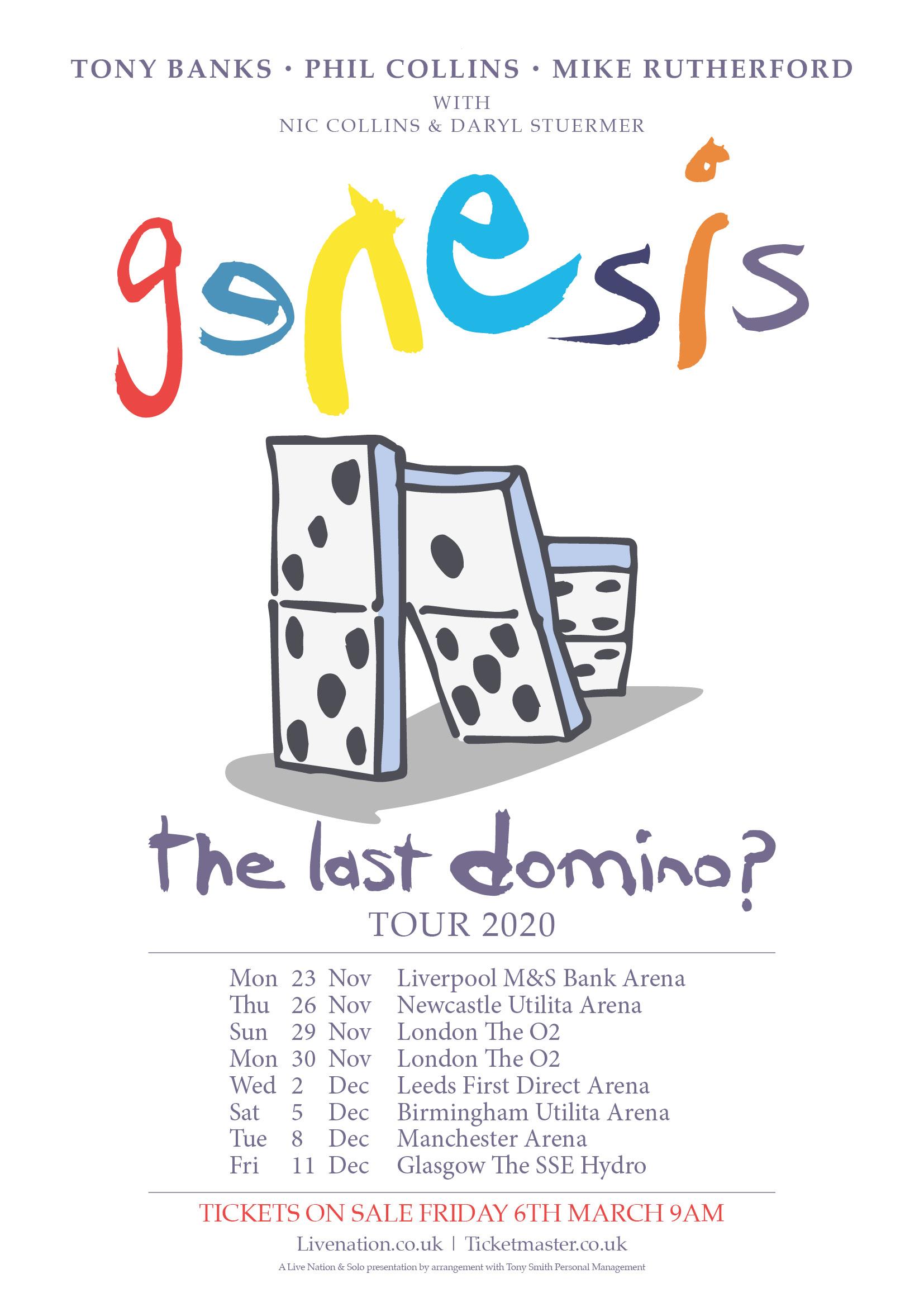promo : a Genesis concert tour : The Last Domino