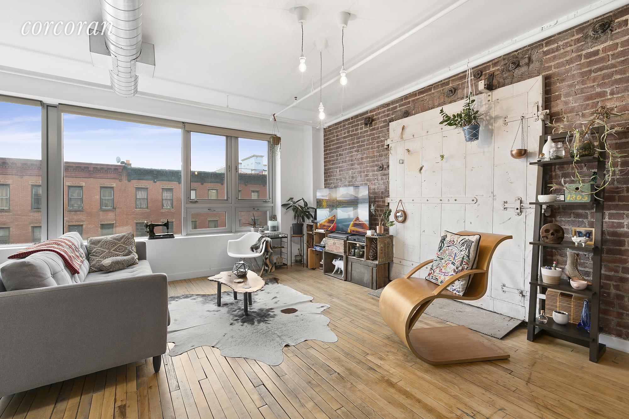 a loft condo in Brooklyn